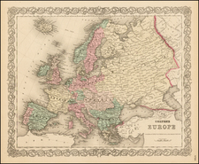 Europe and Europe Map By G.W.  & C.B. Colton
