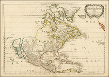 Midwest, North America and California Map By Nicolas Sanson