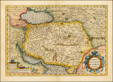 Central Asia & Caucasus and Middle East Map By Gerhard Mercator