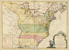 United States, New England, Mid-Atlantic and South Map By Louis Brion de la Tour