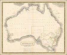 Australia Map By W. & A.K. Johnston