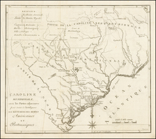 Southeast and South Carolina Map By Charles Picquet