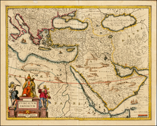 Turkey, Mediterranean, Balearic Islands, Middle East and Turkey & Asia Minor Map By Jan Jansson
