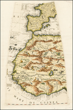 Spain, Portugal, Africa, Africa, North Africa, West Africa and African Islands, including Madagascar Map By Vincenzo Maria Coronelli