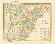 United States and Southeast Map By Robert Wilkinson