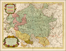 Luxembourg Map By Alexis-Hubert Jaillot