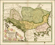 Romania, Balkans, Turkey and Greece Map By Christopher Weigel