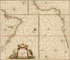 Brazil, South Africa and West Africa Map By Johannes Van Keulen