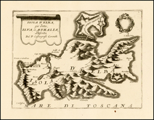 France and Italy Map By Vincenzo Maria Coronelli