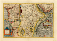 Africa, East Africa and West Africa Map By Jodocus Hondius