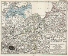 Europe, Germany and Austria Map By Adolf Stieler