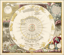 Polar Maps, California, Celestial Maps and Curiosities Map By Johann Gabriele Doppelmayr