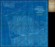 Washington Map By O.P. Anderson Map & Blue Print Company