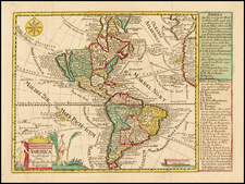 South America and America Map By Johann George Schreiber