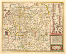 Poland, Russia and Baltic Countries Map By Moses Pitt