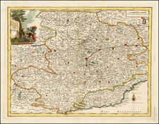 Italy and Northern Italy Map By Giambattista Albrizzi