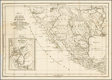 South, Texas, Plains, Southwest, Rocky Mountains, Mexico, Baja California and California Map By Anonymous