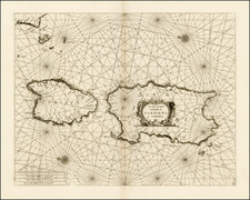 France, Italy and Balearic Islands Map By Vincenzo Maria Coronelli