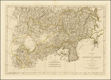 China, Korea and Central Asia & Caucasus Map By Samuel Dunn