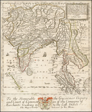 India and Southeast Asia Map By Richard Blome