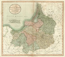 Europe, Poland, Baltic Countries and Germany Map By John Cary