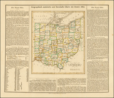 Midwest and Ohio Map By Carl Ferdinand Weiland