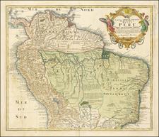 South America, Colombia, Brazil and Peru & Ecuador Map By Homann Heirs