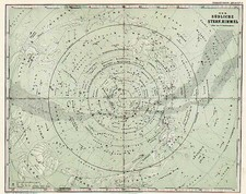 Curiosities and Celestial Maps Map By Adolf Stieler