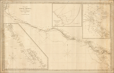 Mexico, Baja California, Central America and California Map By E & GW Blunt