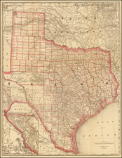 Texas and Southwest Map By William Rand  &  Andrew McNally