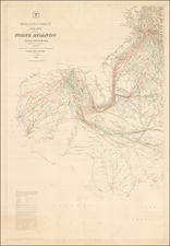 Mid-Atlantic, Florida, Southeast, Caribbean and Central America Map By Matthew Fontaine Maury