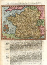 Europe and France Map By Jodocus Hondius / Samuel Purchas