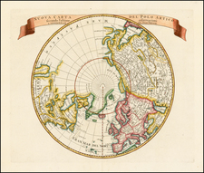 Northern Hemisphere, Polar Maps and Canada Map By Isaak Tirion