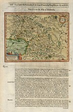 Europe and Russia Map By Jodocus Hondius / Samuel Purchas