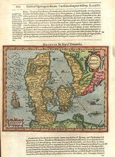 Europe, Germany and Scandinavia Map By Jodocus Hondius / Samuel Purchas