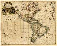 North America Map By Pieter van der Aa