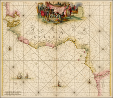 West Africa Map By Frederick De Wit