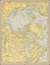 Polar Maps Map By George F. Cram