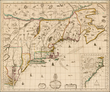 United States, New England, Mid-Atlantic and Southeast Map By Robert Morden