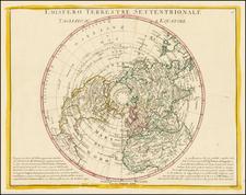 Northern Hemisphere and Polar Maps Map By Antonio Zatta