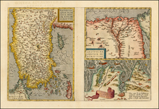 Turkey & Asia Minor, Egypt and North Africa Map By Abraham Ortelius