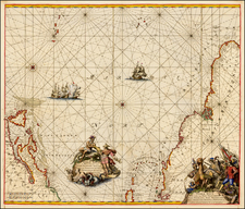 Atlantic Ocean, Canada and Brazil Map By Frederick De Wit