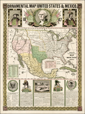 United States, North America and Mexico Map By Humphrey Phelps