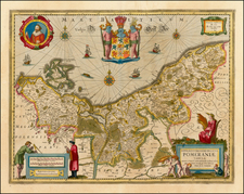 Germany and Baltic Countries Map By Henricus Hondius / Jan Jansson