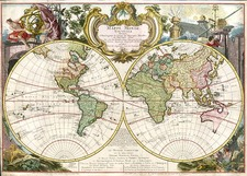 World and World Map By Georges Louis Le Rouge
