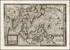 China, Japan, Korea, India, Southeast Asia, Philippines, Other Islands, Pacific, Australia and California Map By Johann Bussemachaer