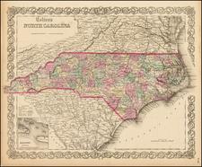 Southeast Map By Joseph Hutchins Colton