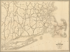 Massachusetts Map By Rand, Avery & Co.