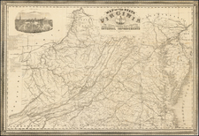 Map of the State of Virginia Containing The Counties, Principal Towns, Railroads, Rivers, Canals & All Other Internal Improvements.  Published by West & Johnston.  Richmond Va. 1862 . . .  By West & Johnston