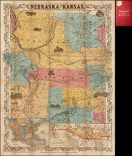 Midwest, Plains and Rocky Mountains Map By Joseph Hutchins Colton